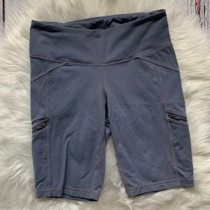 Athleta Cropped Bicycle Workout Athletic Shorts S